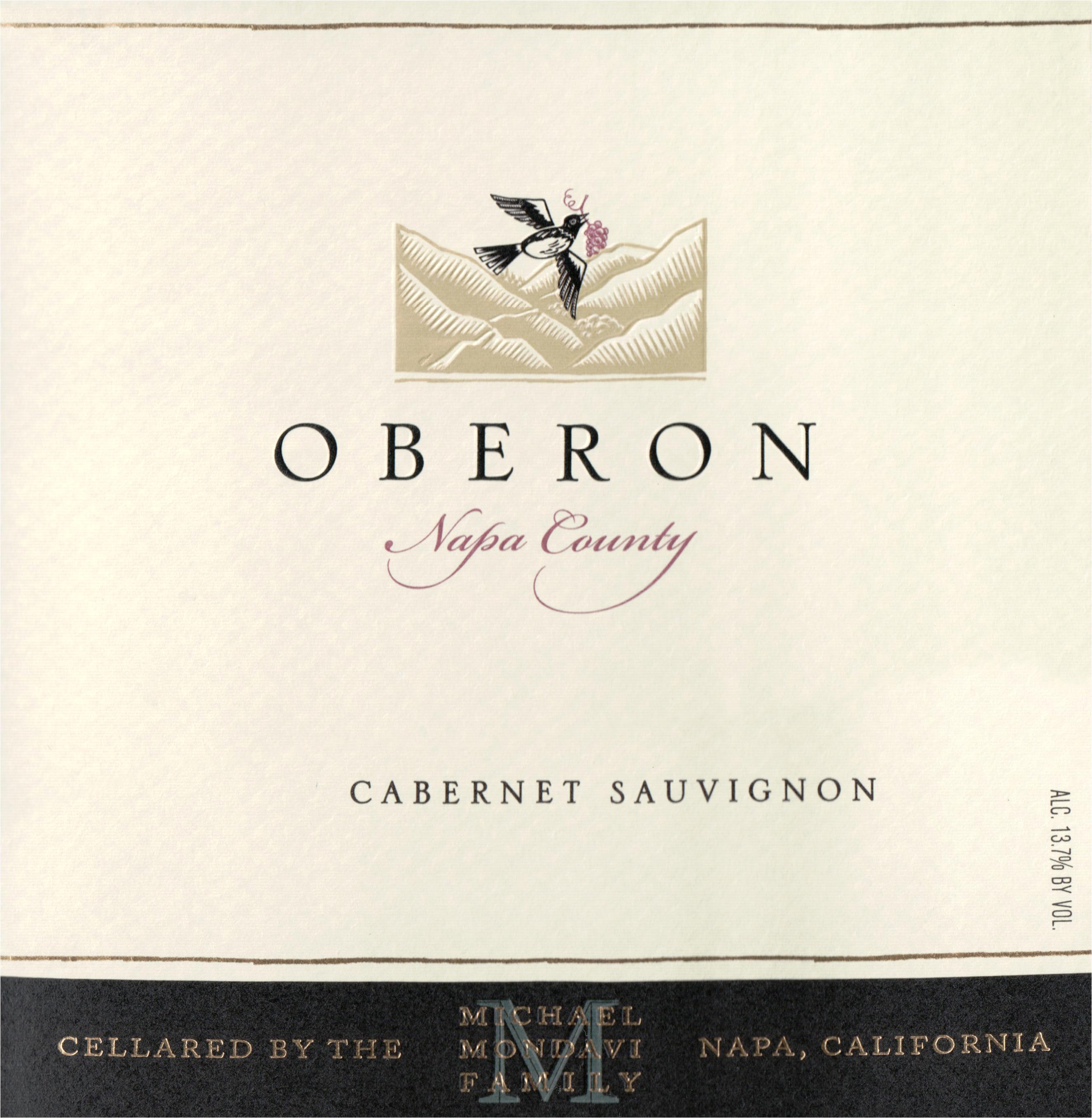 Oberon Napa Cabernet Sauvignon 2018