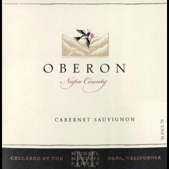 Label shot for 2018 Oberon Napa Cabernet Sauvignon