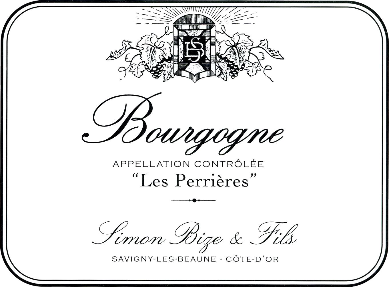 Simon Bize Bourgogne Rouge Les Perrieres 2017