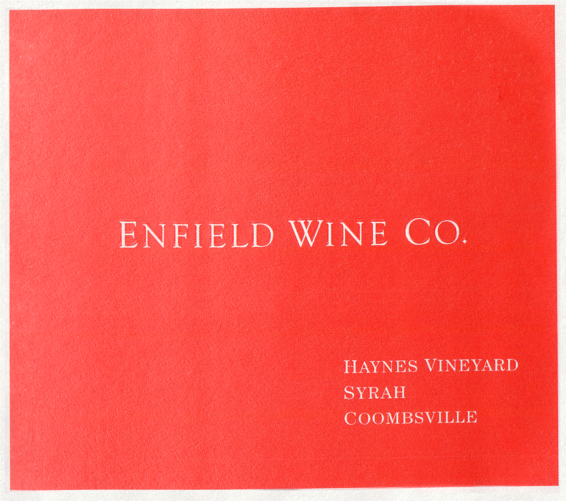 Enfield Wine Co Syrah Haynes Vineyard 2017