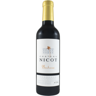 Bottle shot for 2018 Chateau Nicot Bordeaux