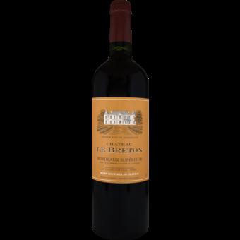 Bottle shot for 2018 Chateau Le Breton Bordeaux Superieur