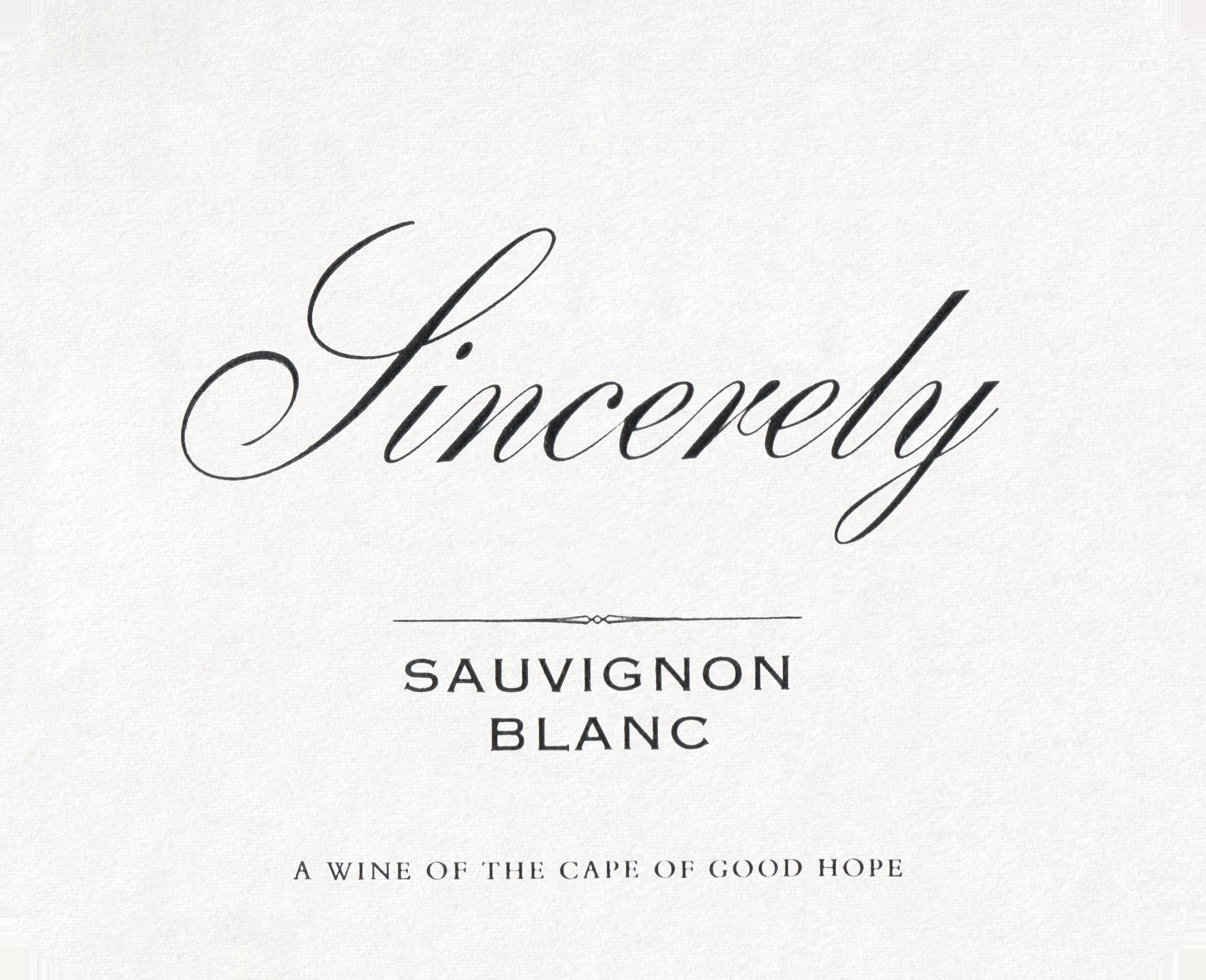 Neil Ellis Sincerely Sauvignon Blanc 2019