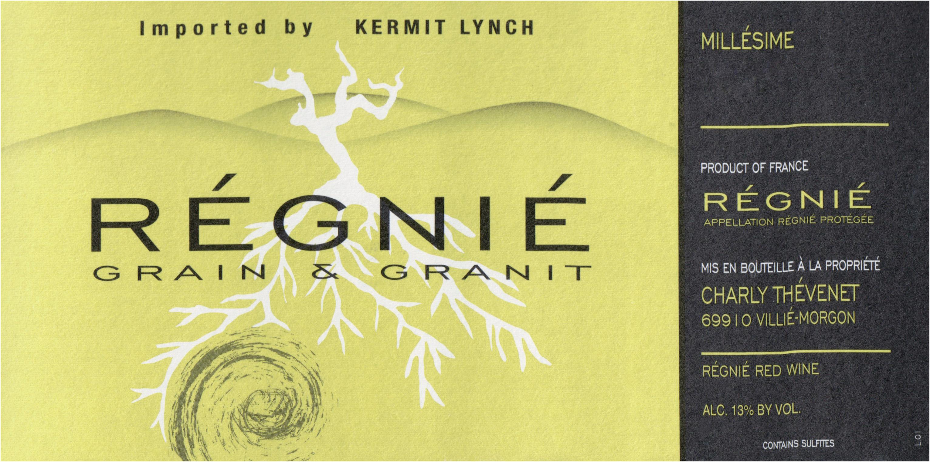Charly Thevenet Regnie Grain & Granit 2017