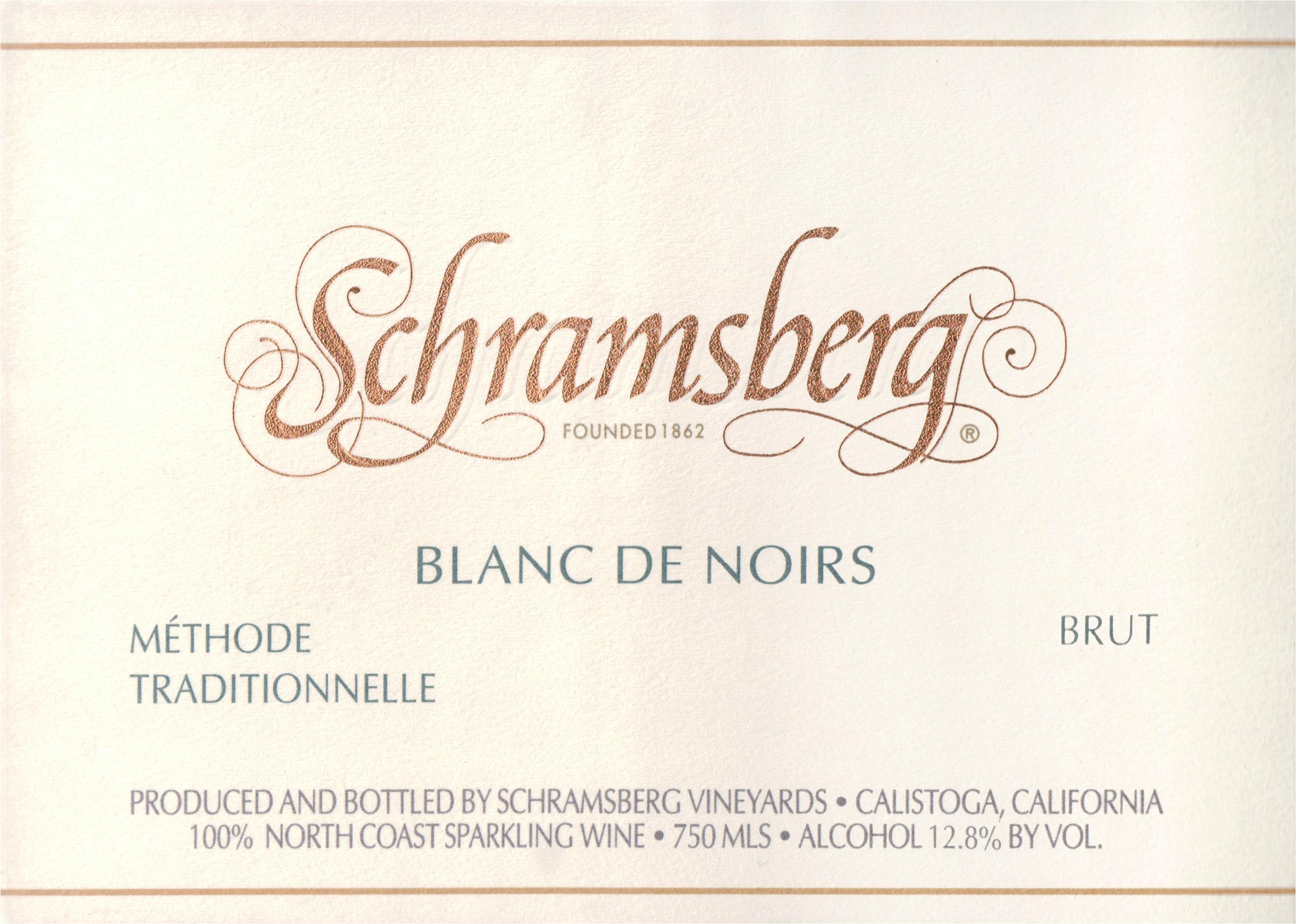 Schramsberg Blanc De Noirs Brut 2016