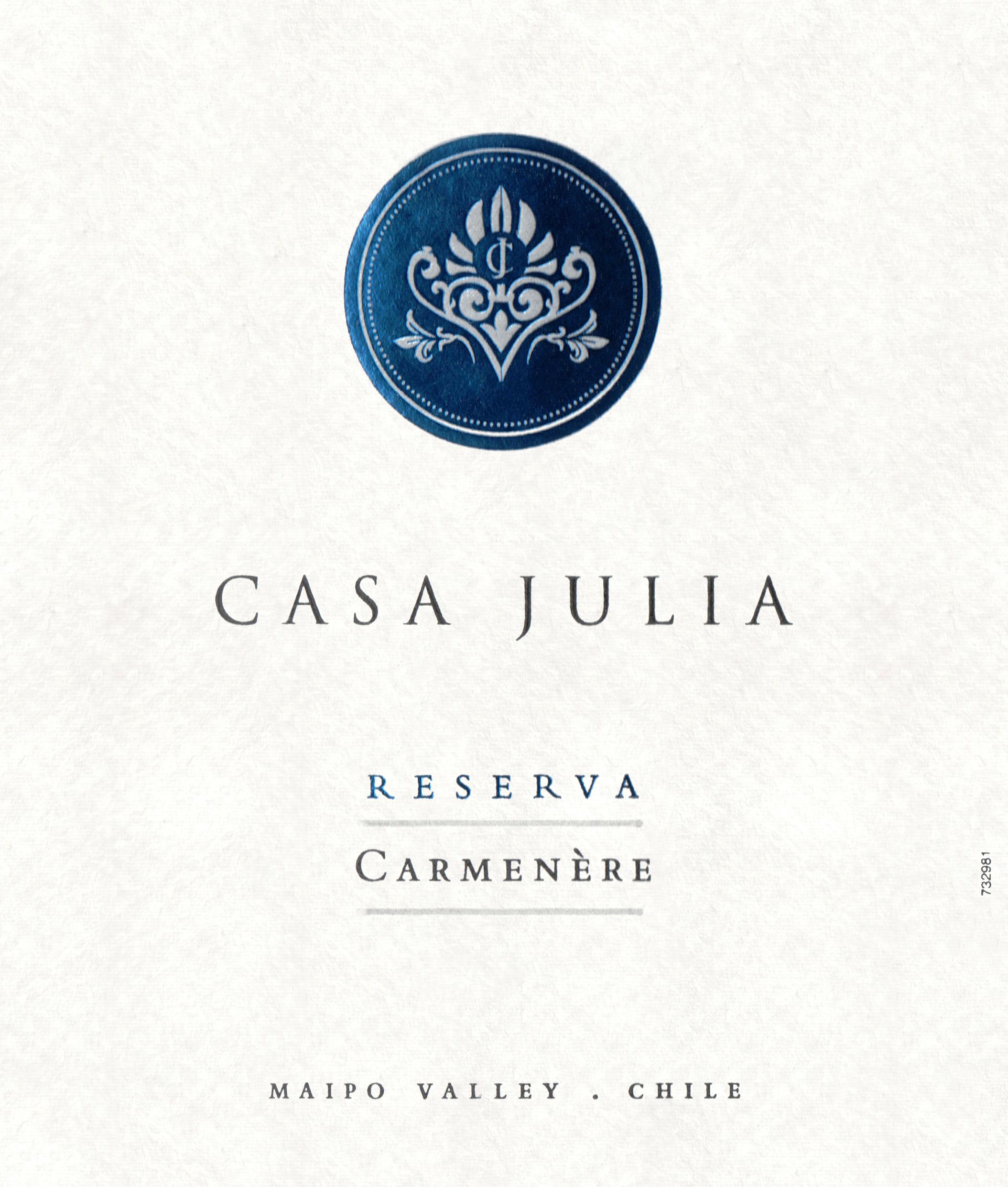 Casa Julia Reserve Carmenere 2018