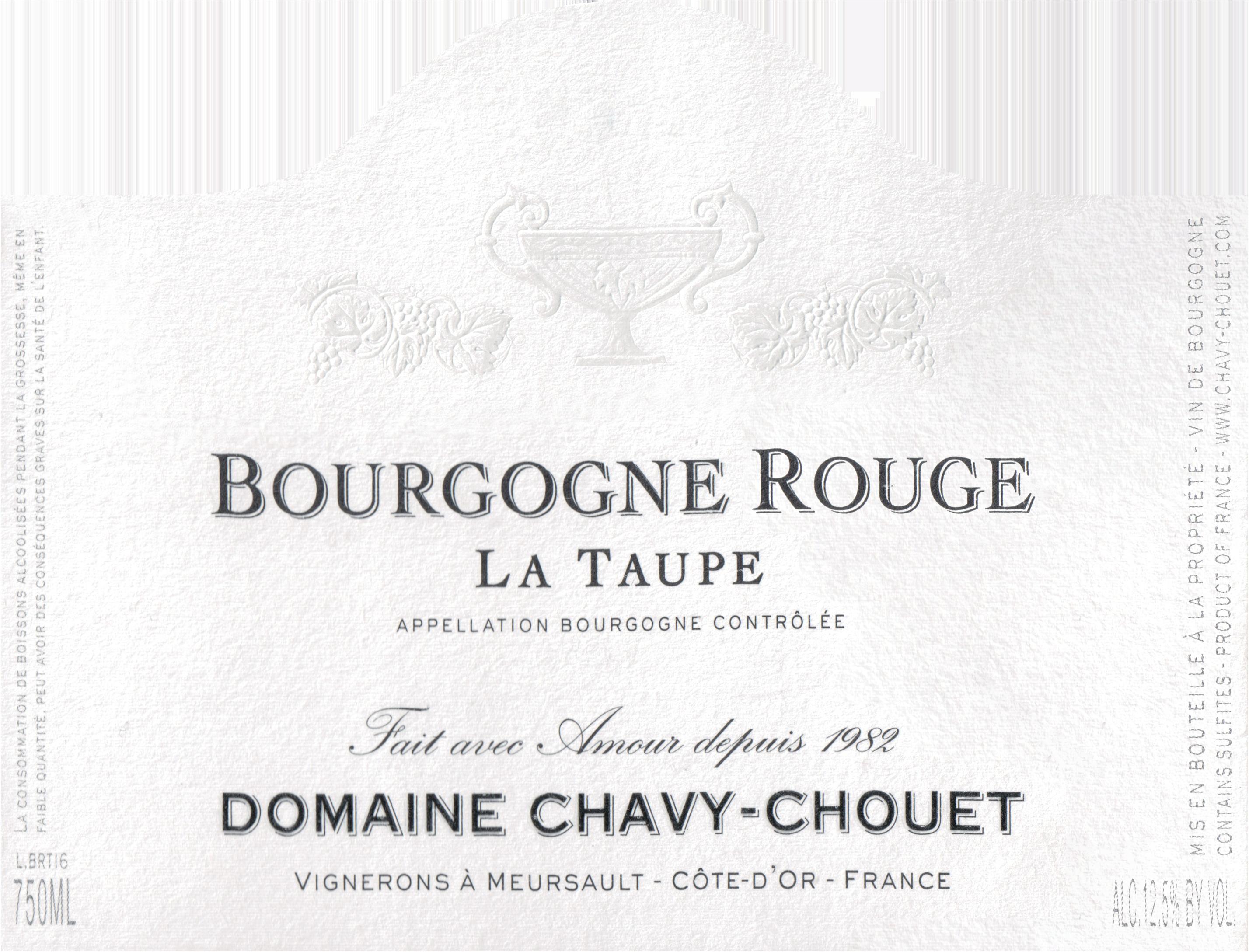 """Chavy Chouet Bourgogne """"La Taupe"""" Rouge 2017"""