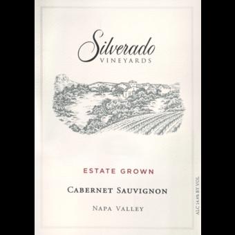 Label shot for 2017 Silverado Vineyards Estate Cabernet Sauvignon