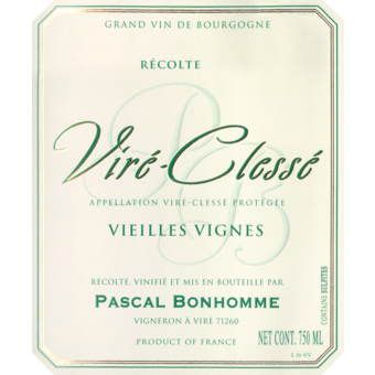 Label shot for 2018 Pascal Bonhomme Vire Clesse