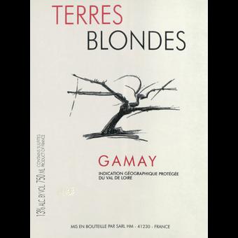 Label shot for 2019 Terres Blondes Gamay