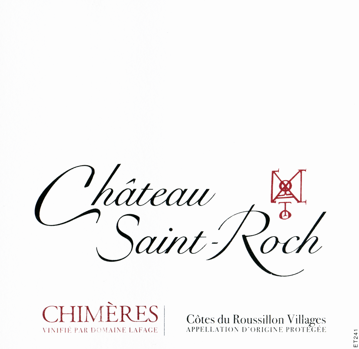 Chateau Saint Roch Chimeres Cotes Du Roussillon Villages 2017