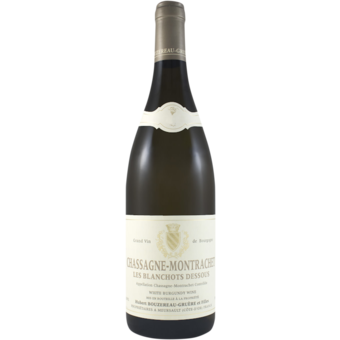 Bottle shot for 2017 Domaine Bouzereau Gruere Chassagne Blanchots Dessous