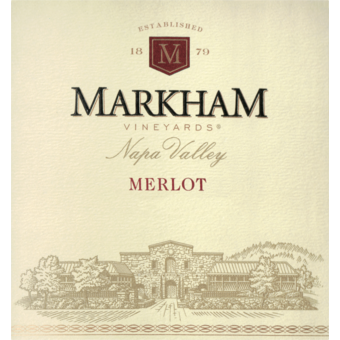 Label shot for 2017 Markham Vineyards Merlot