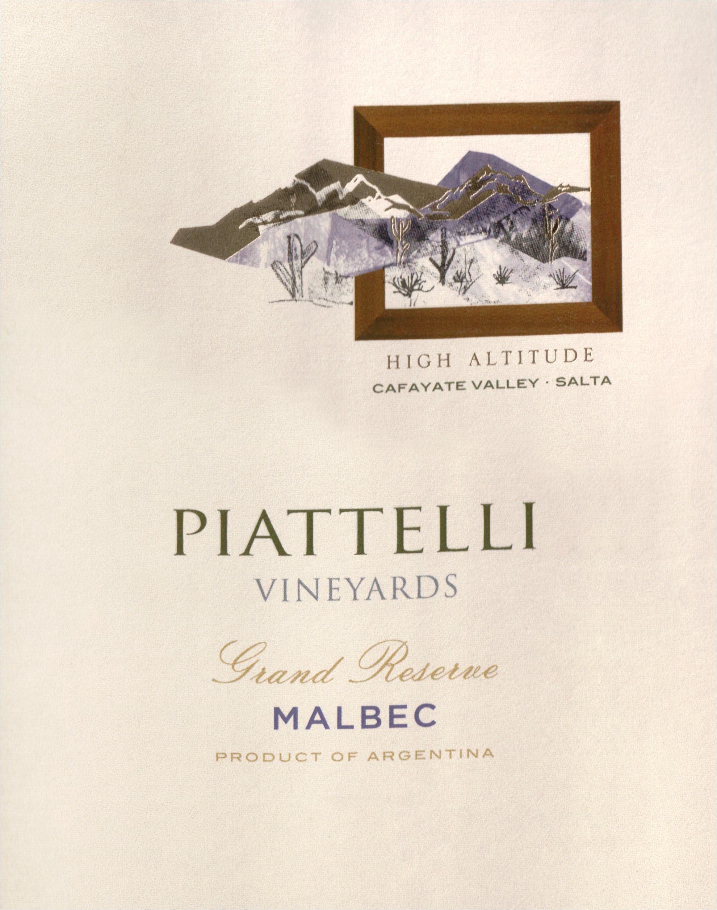 Piattelli Cafayate Grand Reserve Malbec 2017