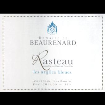 Label shot for 2017 Domaine De Beaurenard Rasteau Les Argiles Bleues