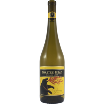 Bottle shot for 2018 Toasted Head Chardonnay