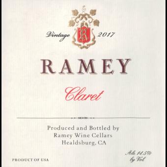 Label shot for 2017 Ramey Claret