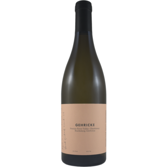 Bottle shot for 2018 Gehricke Russian River Valley Chardonnay