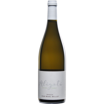 Bottle shot for 2019 Jean Marc Millot Bourgogne Aligote 'les Deux Terres'