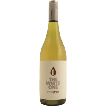 """Bottle shot for 2018 First Drop """"The White One"""" Blend"""