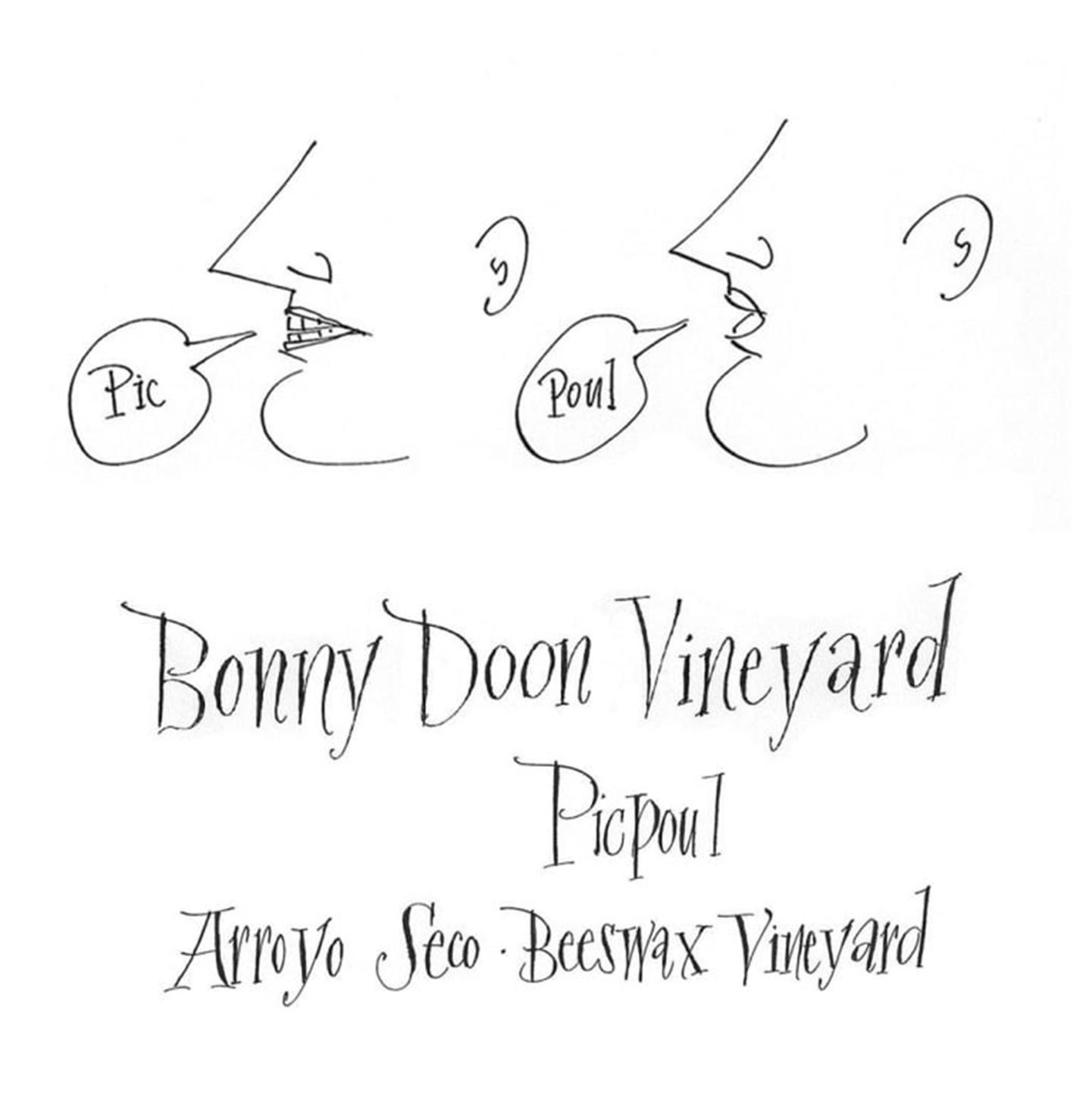 Bonny Doon Vineyard Picpoul Beeswax Vineyard Arroyo Secco 2019