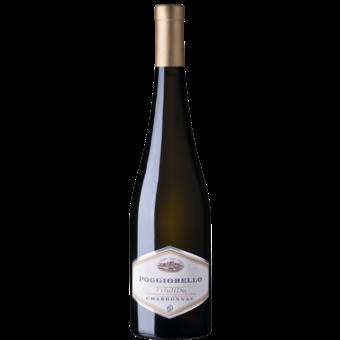 Bottle shot for 2018 Poggiobello Chardonnay