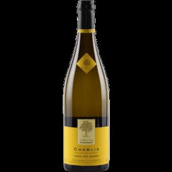 Bottle shot for 2018 Isabelle & Denis Pommier Chablis Croix Aux Moines