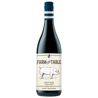 Bottle shot for 2018 Farm To Table Pinot Noir