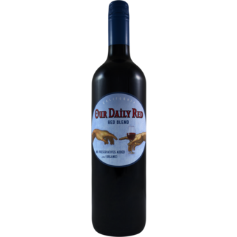 Bottle shot for 2019 Nevada County Wine Guild Our Daily Red