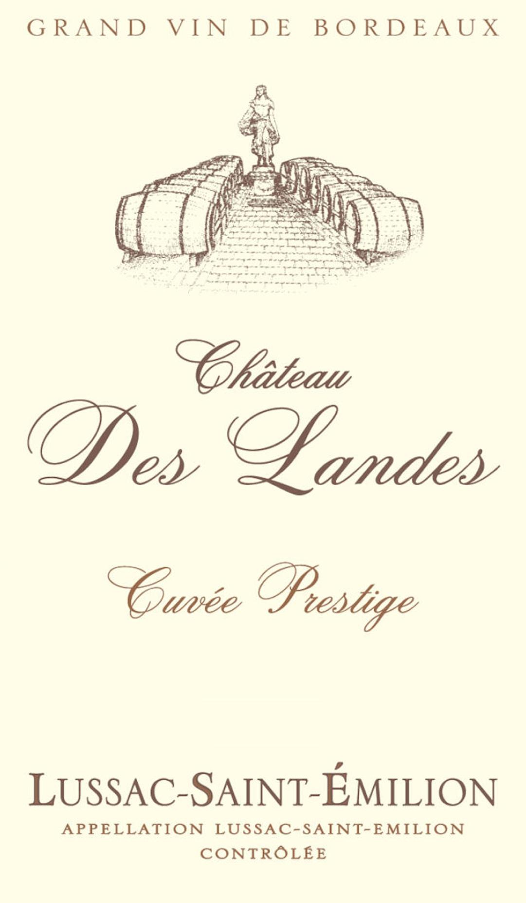 Chateau Des Landes Cuvee Prestige 2016
