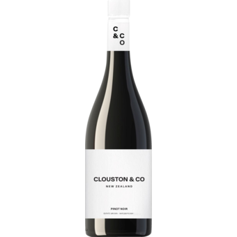 Bottle shot for 2017 Clouston & Co Estate Pinot Noir