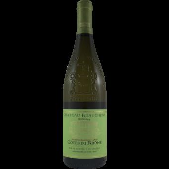 Bottle shot for 2019 Beauchene Cotes Du Rhone Viognier