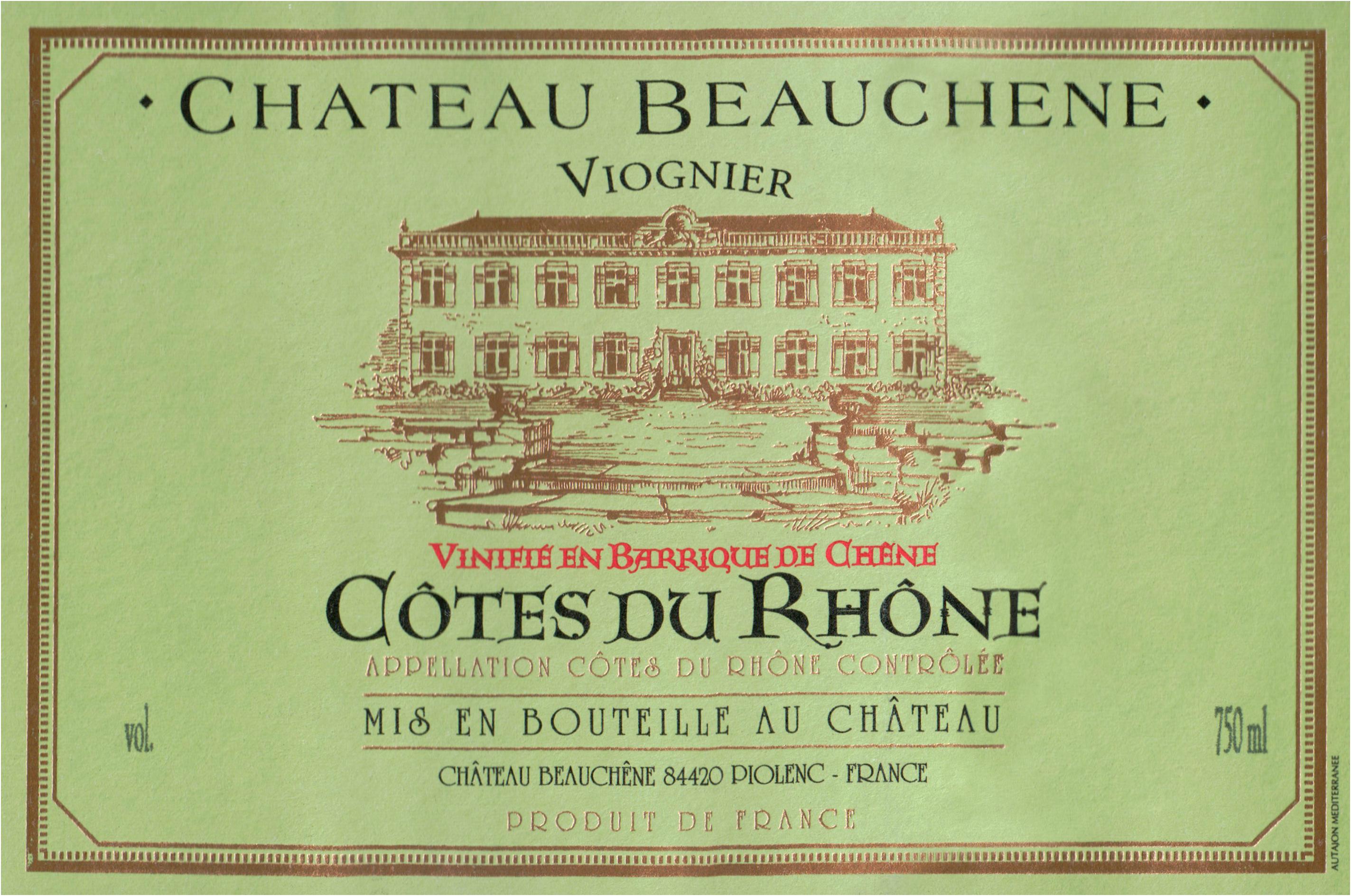 Beauchene Cotes Du Rhone Viognier 2019