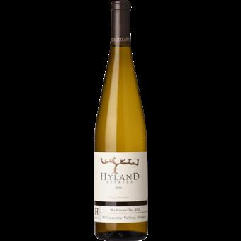 Bottle shot for 2016 Hyland Estates Chardonnay Mcminnville Willamette Valley