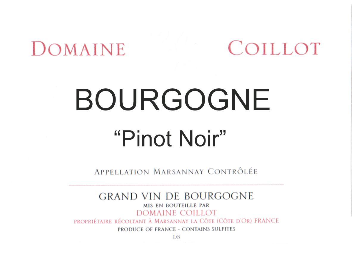 Domaine Coillot Bourgogne Rouge 2018