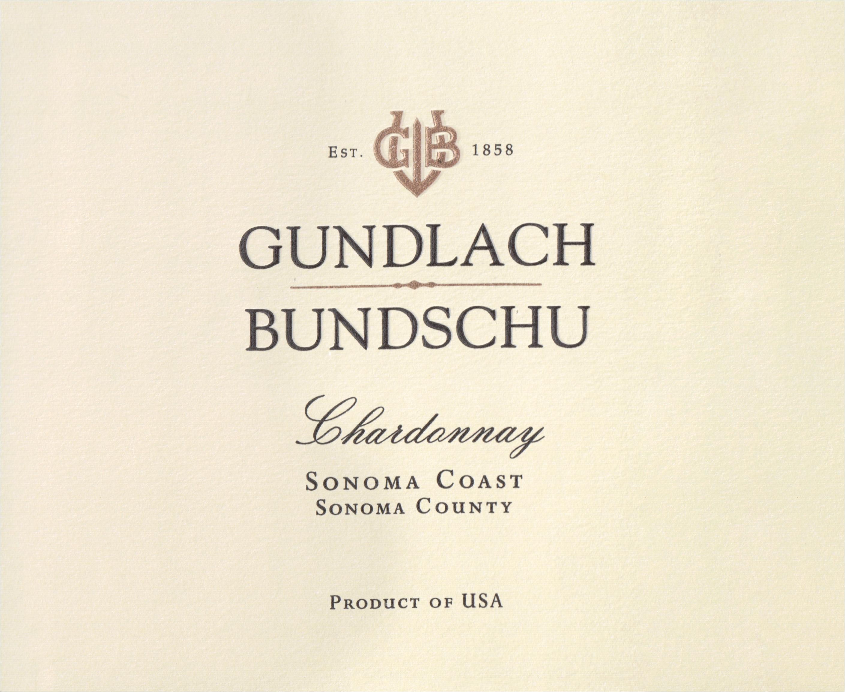 Gundlach Bundschu Estate Chardonnay Sonoma County 2018