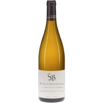 Bottle shot for 2017 Sylvain Bzikot Puligny Montrachet Les Folatieres 1er Cru