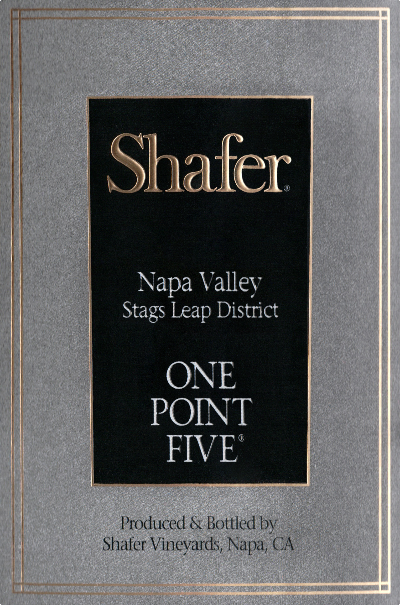 Shafer Cabernet Sauvignon One Point Five 2017