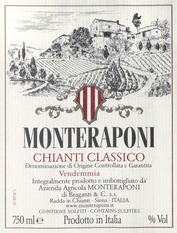 Monteraponi Chianti Classico Docg 2018