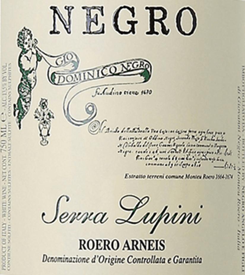 Angelo Negro Roero Arneis Serra Lupini 2019