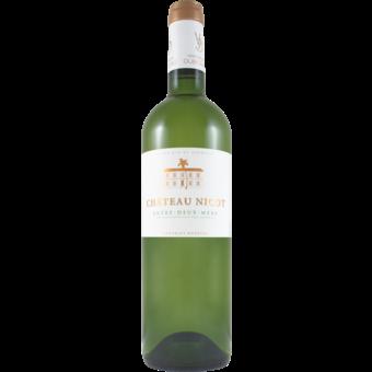 Bottle shot for 2019 Chateau Nicot Entre Deux Mers Blanc