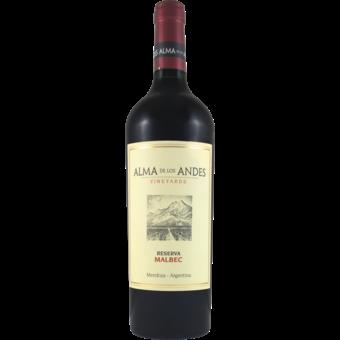 Bottle shot for 2016 Alma De Los Andes Malbec Reserva