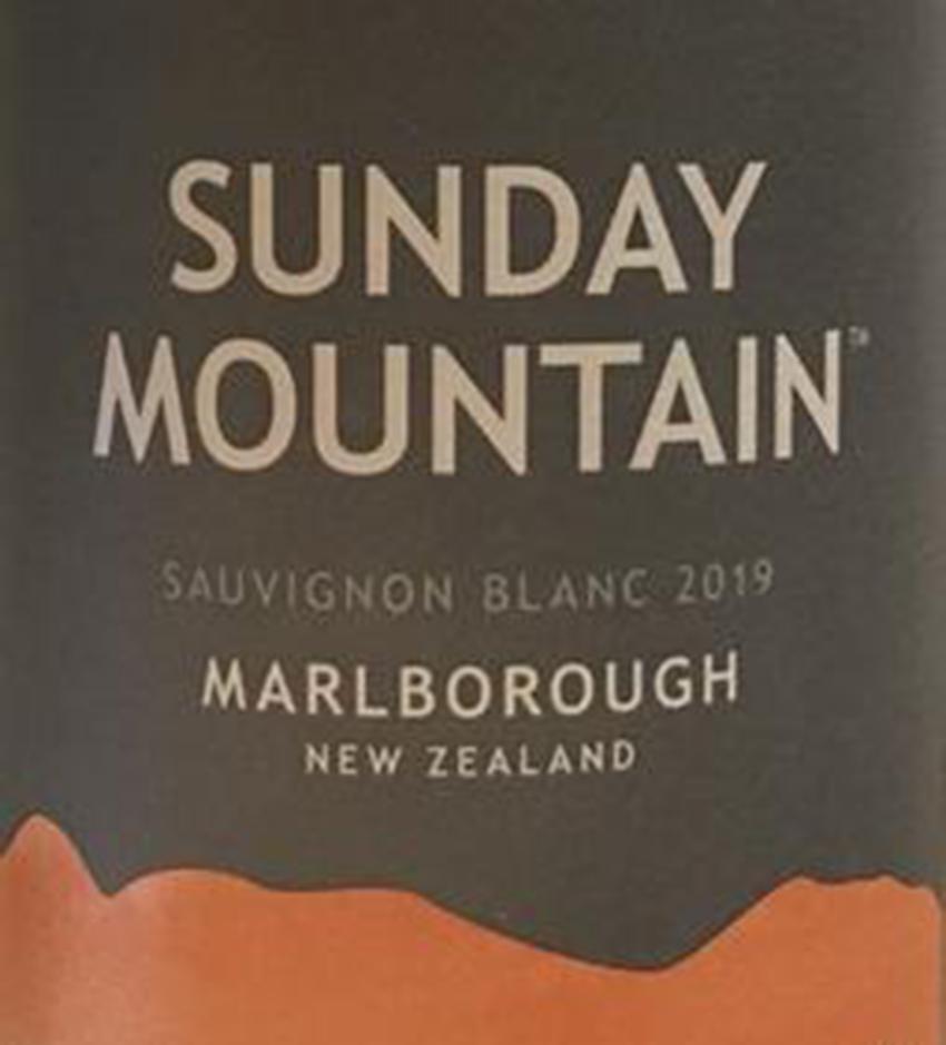 Sunday Mountain Sauvignon Blanc 2019