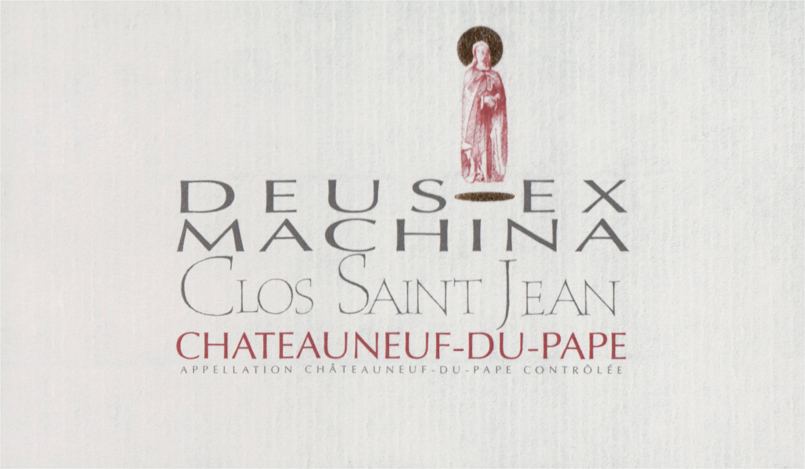 Clos St. Jean Deus Ex Machina Chateauneuf Du Pape 2018