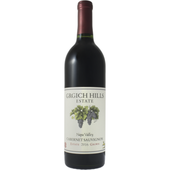 Bottle shot for 2016 Grgich Hills Cabernet Sauvignon