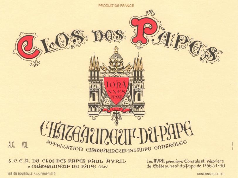 Clos Des Papes Chateauneuf Du Pape Magnum 2018