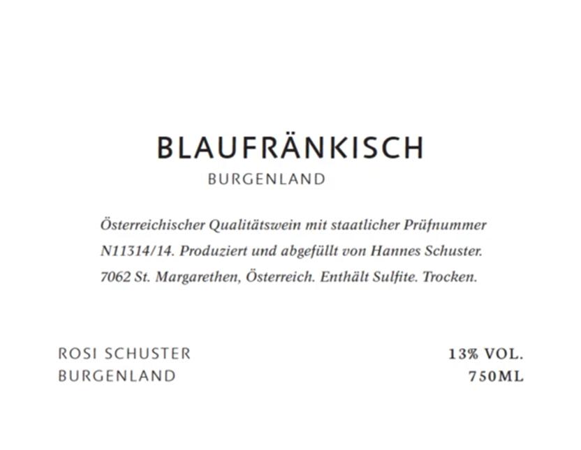 Rosi Schuster Blaufrankisch Burgenland 2017