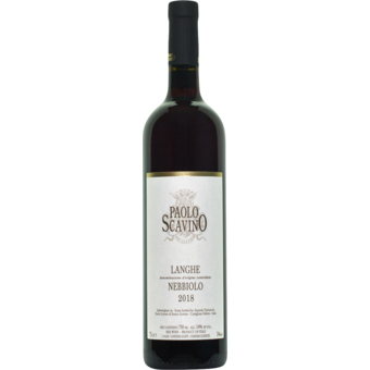 Bottle shot for 2018 Paolo Scavino Nebbiolo Langhe