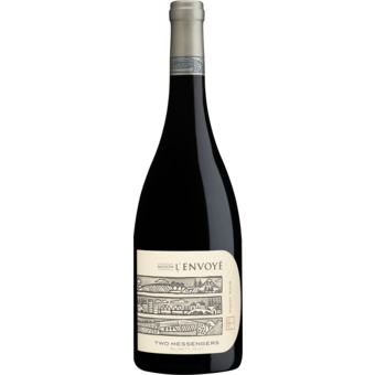 Bottle shot for 2018 Maison L'envoye Two Messengers Pinot Noir