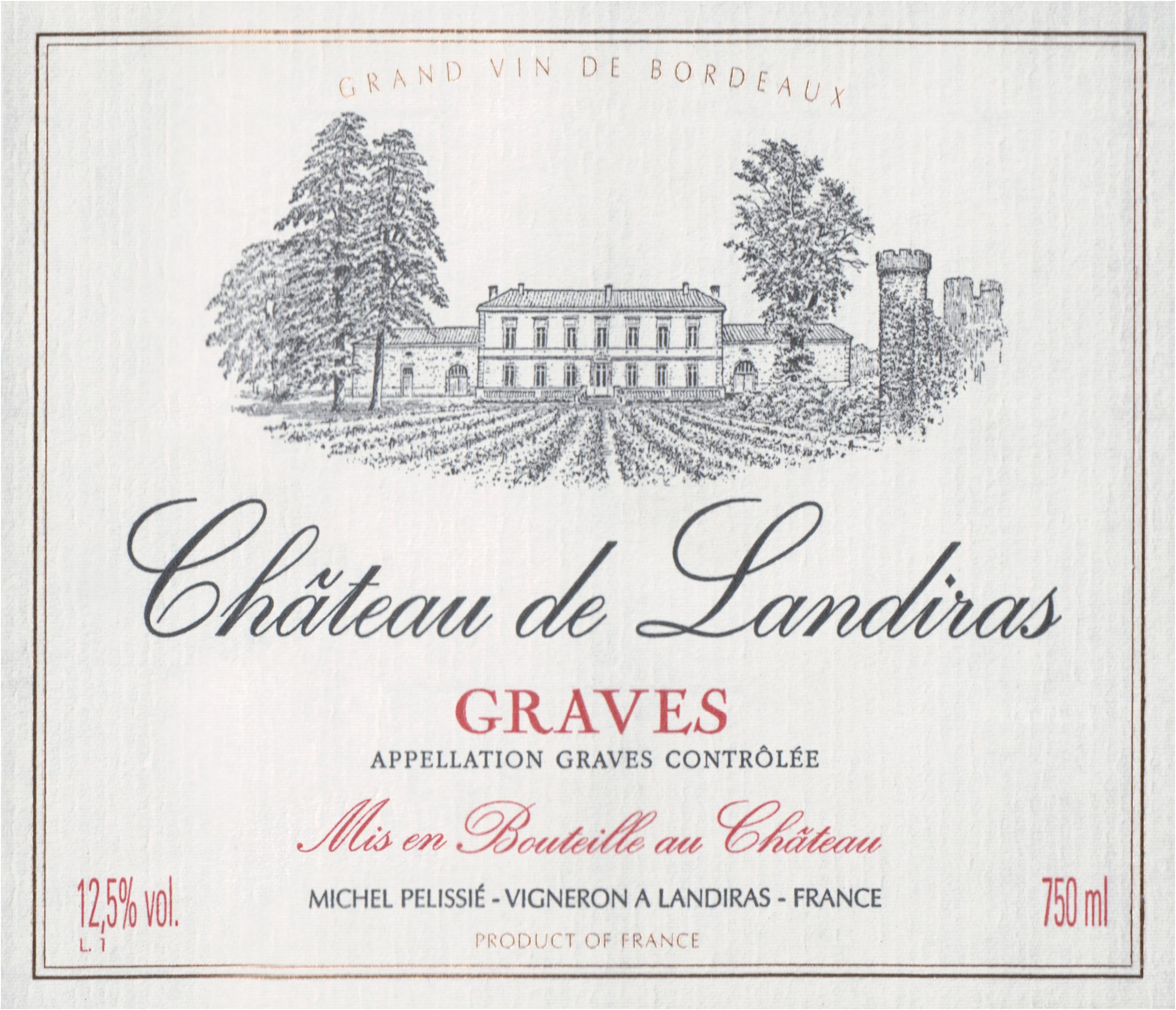 Chateau De Landiras Bordeaux 2016